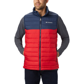 Columbia Powder Lite Vest Herrer, mountain red/collegiate navy